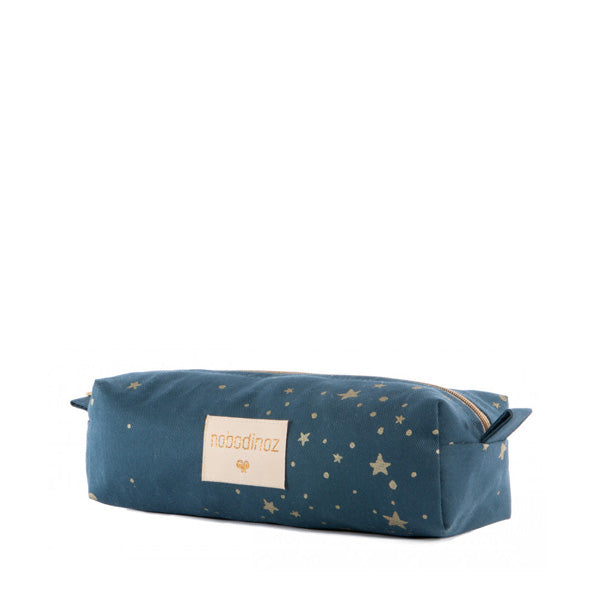 Nobodinoz Too Cool Pencil Case - Gold Stella / Night Blue