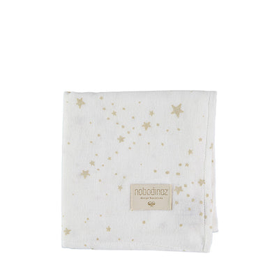 Nobodinoz Baby Love Swaddle – Gold Stella / White