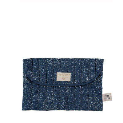Nobodinoz Bagatelle Pouch –  Gold Bubble / Night Blue