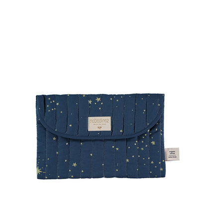 Nobodinoz Bagatelle Pouch - Gold Stella / Night Blue