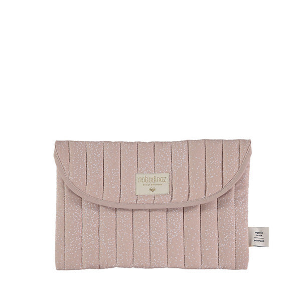 Nobodinoz Bagatelle Pouch – White Bubble / Misty Pink