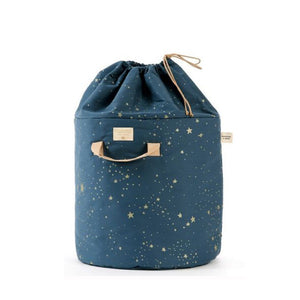 Nobodinoz Bamboo Toy Bag – Gold Stella / Night Blue