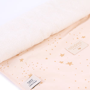 Nobodinoz Changing Pad Nomad – Gold Stella / Dream Pink