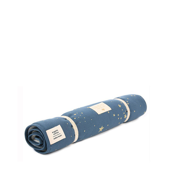 Nobodinoz Changing Pad Nomad – Gold Stella / Night Blue