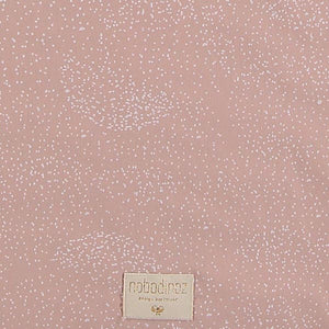 Nobodinoz Colorado Square Playmat – White Bubble / Misty Pink