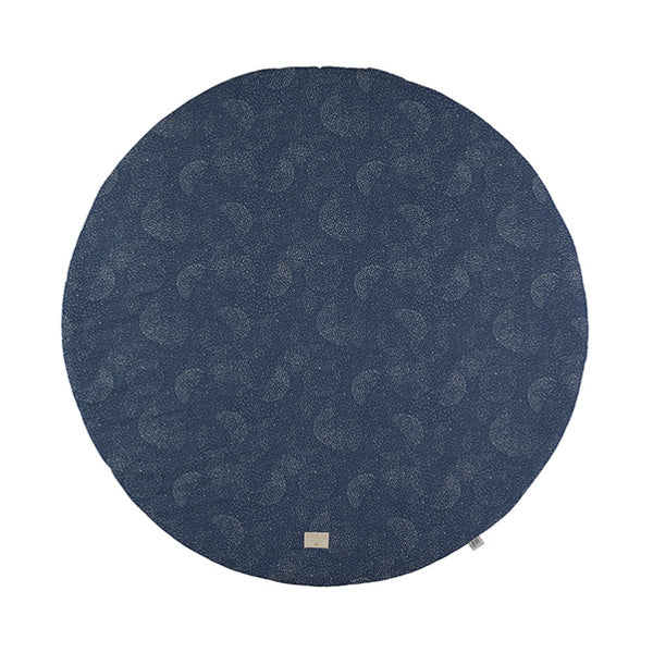 Nobodinoz Full Moon Play Mat – Gold Bubble / Night Blue