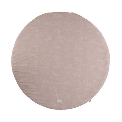 Nobodinoz Full Moon Play Mat – White Bubble / Misty Pink