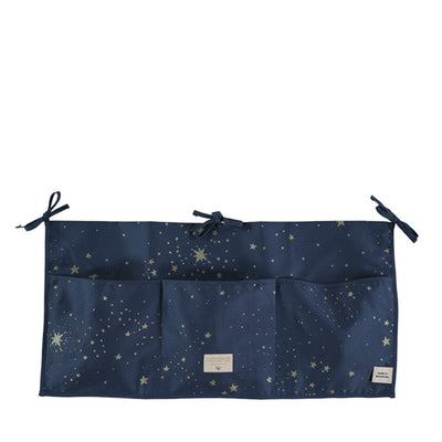 Nobodinoz Merlin Crib Organizer – Gold Stella / Night Blue