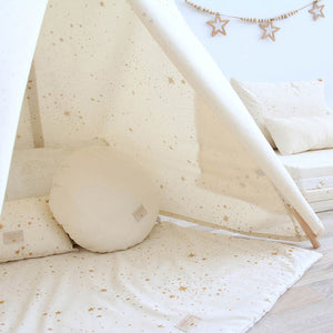 Nobodinoz Colorado Square Playmat – Gold Stella / Natural