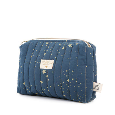 Nobodinoz Travel Vanity Case - Gold Stella / Night Blue