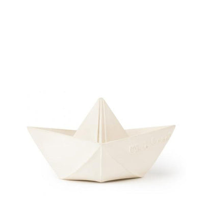 Oli and Carol Origami Boat – White