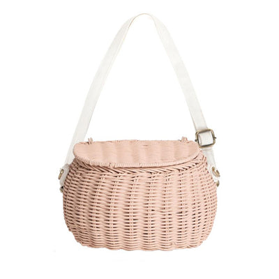 Olli Ella Mini Chari Bike Basket - Rose