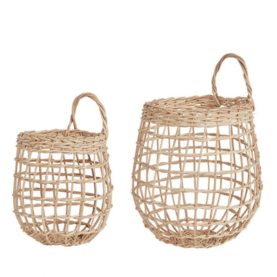 Olli Ella Rattan Onion Basket Duo