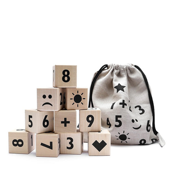 Ooh Noo Math Blocks - Black
