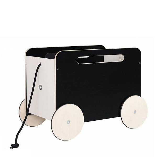 Ooh Noo Toy Chest On Wheels - Black