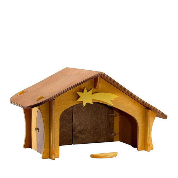 Ostheimer Nativity Stable with Star and Bird Perch