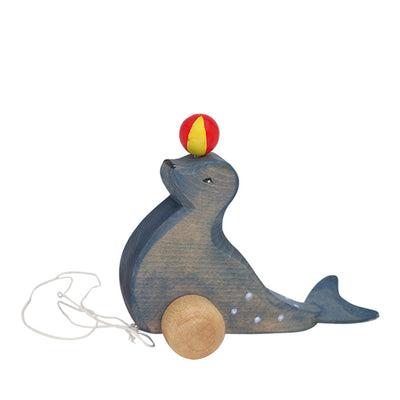 Ostheimer Pull Toy - Seal with Ball