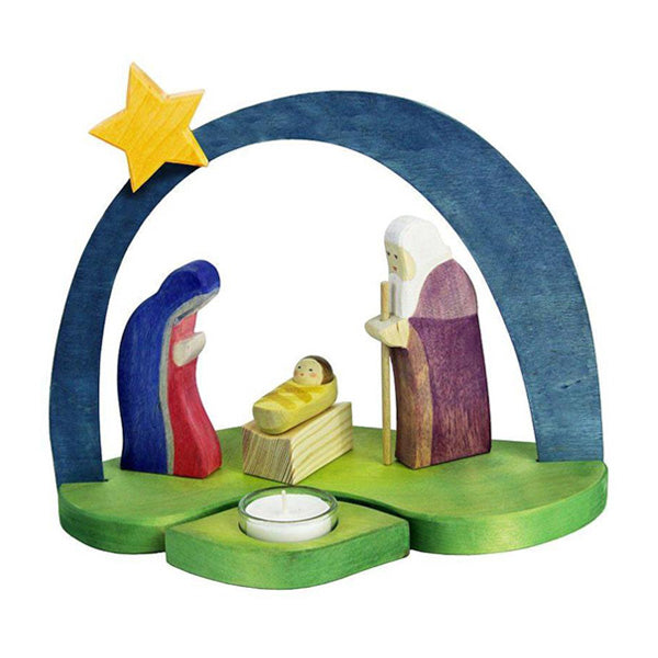 Ostheimer Nativity Candle Holder