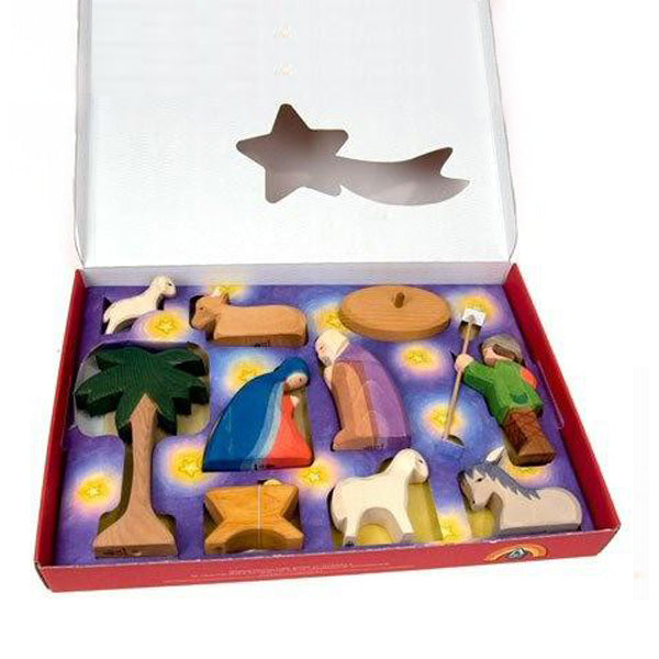 Ostheimer Nativity Set with Diorama 11 pcs