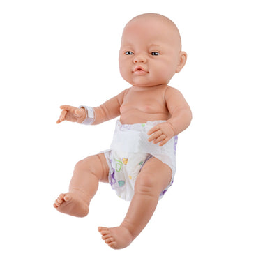 Paola Reina Newborn Doll - Bebitos European Girl with Nappy