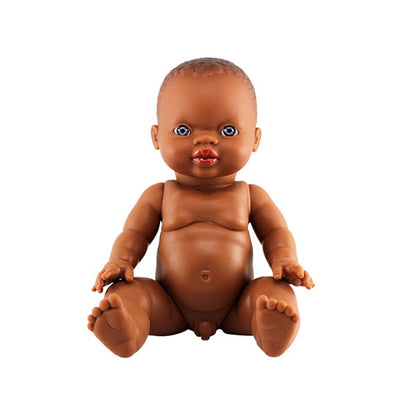 Paola Reina Baby Doll African – Boy / Blue Eyes