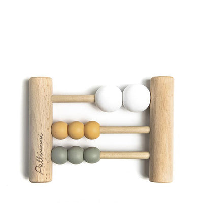 Pellianni Wooden Mini Abacus - Mustard