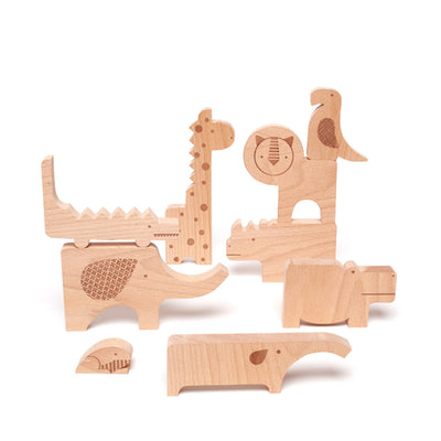 Petit Collage Safari Wooden Animal Puzzle