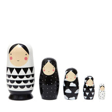 Petit Monkey Nesting Dolls – Black and White