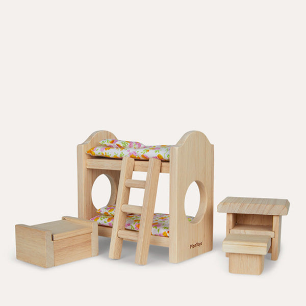 Plan Toys Doll House Children's Bedroom – Classic