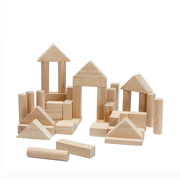 Plan Toys Natural Blocks - 40 Pieces