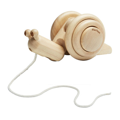 Plan Toys Pull Along Snail - Natural