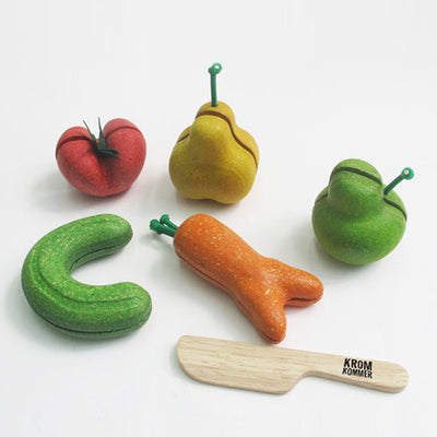 Plan Toys x Kromkommer Crooked Shaped Fruit & Vegetable Set