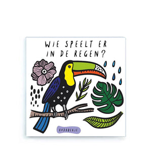 Wee Gallery Bath Book – Wie Speelt er in de Regen ?