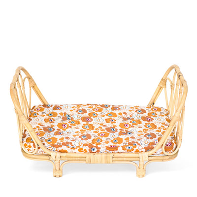Poppie Rattan Doll's Day Bed - Flower