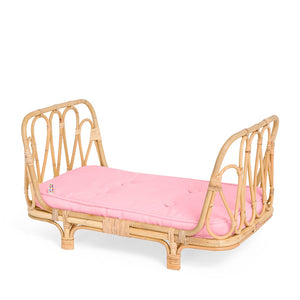 Poppie Rattan Doll's Day Bed - Pink
