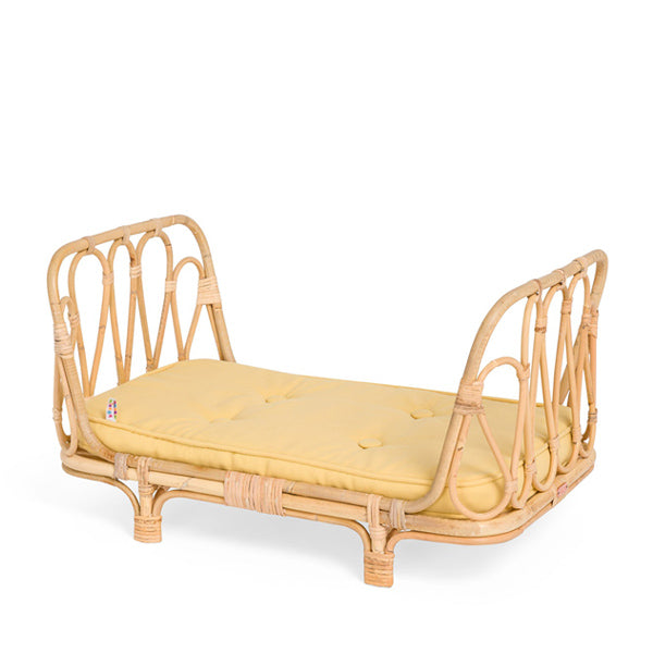 Poppie Rattan Doll's Day Bed - Yellow