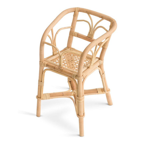 Poppie Rattan Doll's Highchair