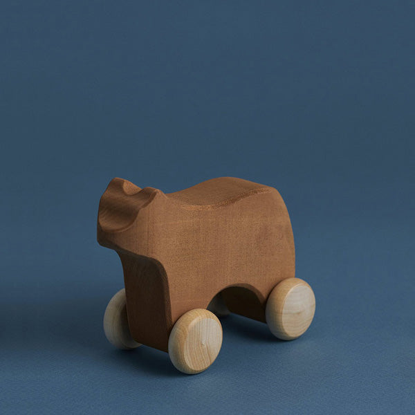Raduga Grëz Wooden Push Toy – Bear