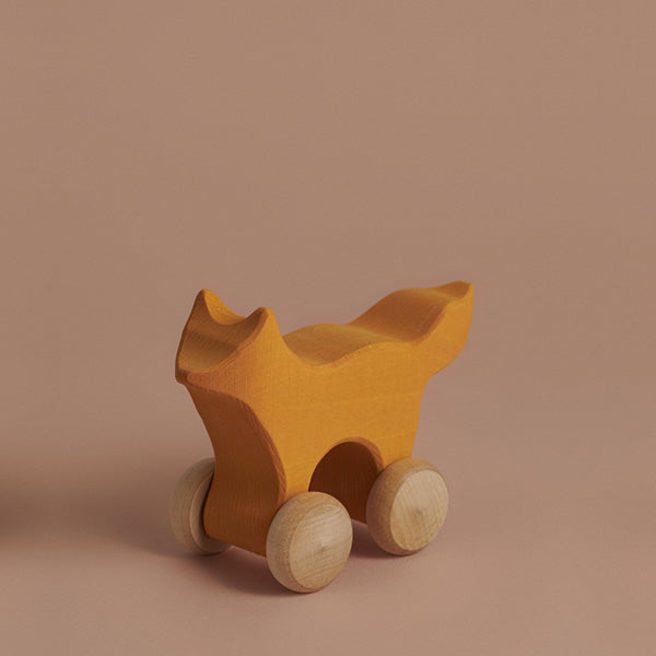 Raduga Grëz Wooden Push Toy – Fox