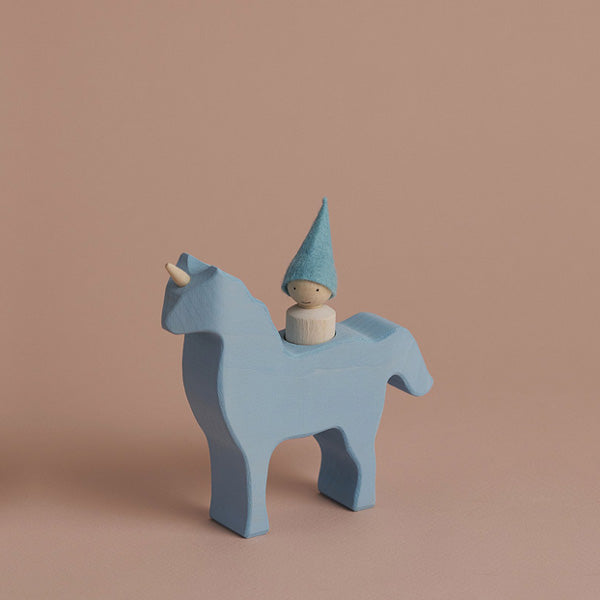 Raduga Grëz Unicorn with Gnome – Blue