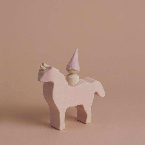 Raduga Grëz Unicorn with Gnome – Pink
