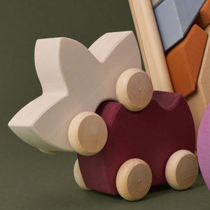Raduga Grëz Wooden Shape Toy Car – Tulip