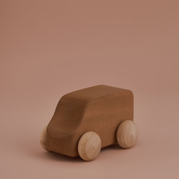Raduga Grëz Wooden Toy Car – Beige