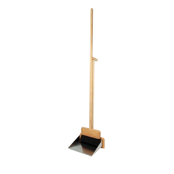 Redecker Dustpan / Brush Set Long Handle with Magnet - Horsehair