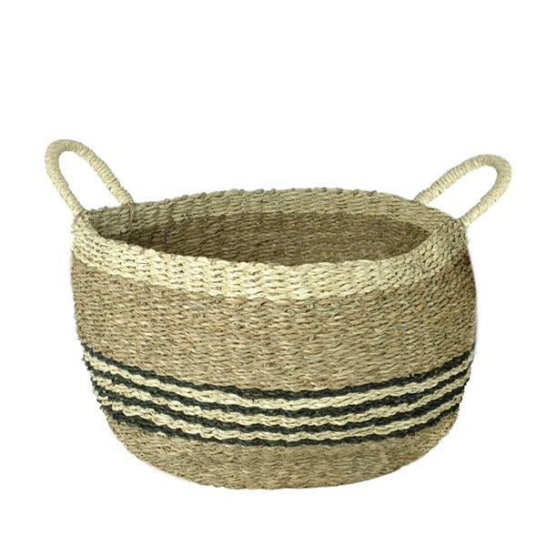 Seagrass Basket Kevin - Striped