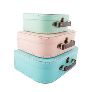 Sass and Belle Set of 3 Suitcases - Pastel