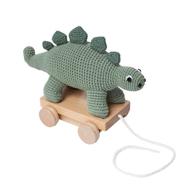 Sebra Crochet Pull Along Toy – Dino