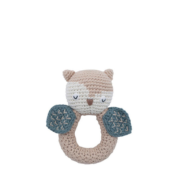 Sebra Crochet Rattle – Blinky the Owl