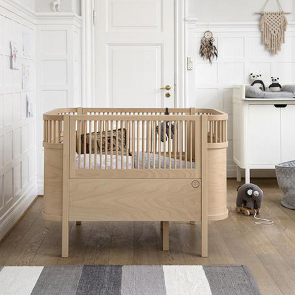 Babybed Aan Bed.Sebra Bed Baby And Junior Wooden Edition