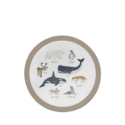 Sebra Melamine Plate – Artic Animals